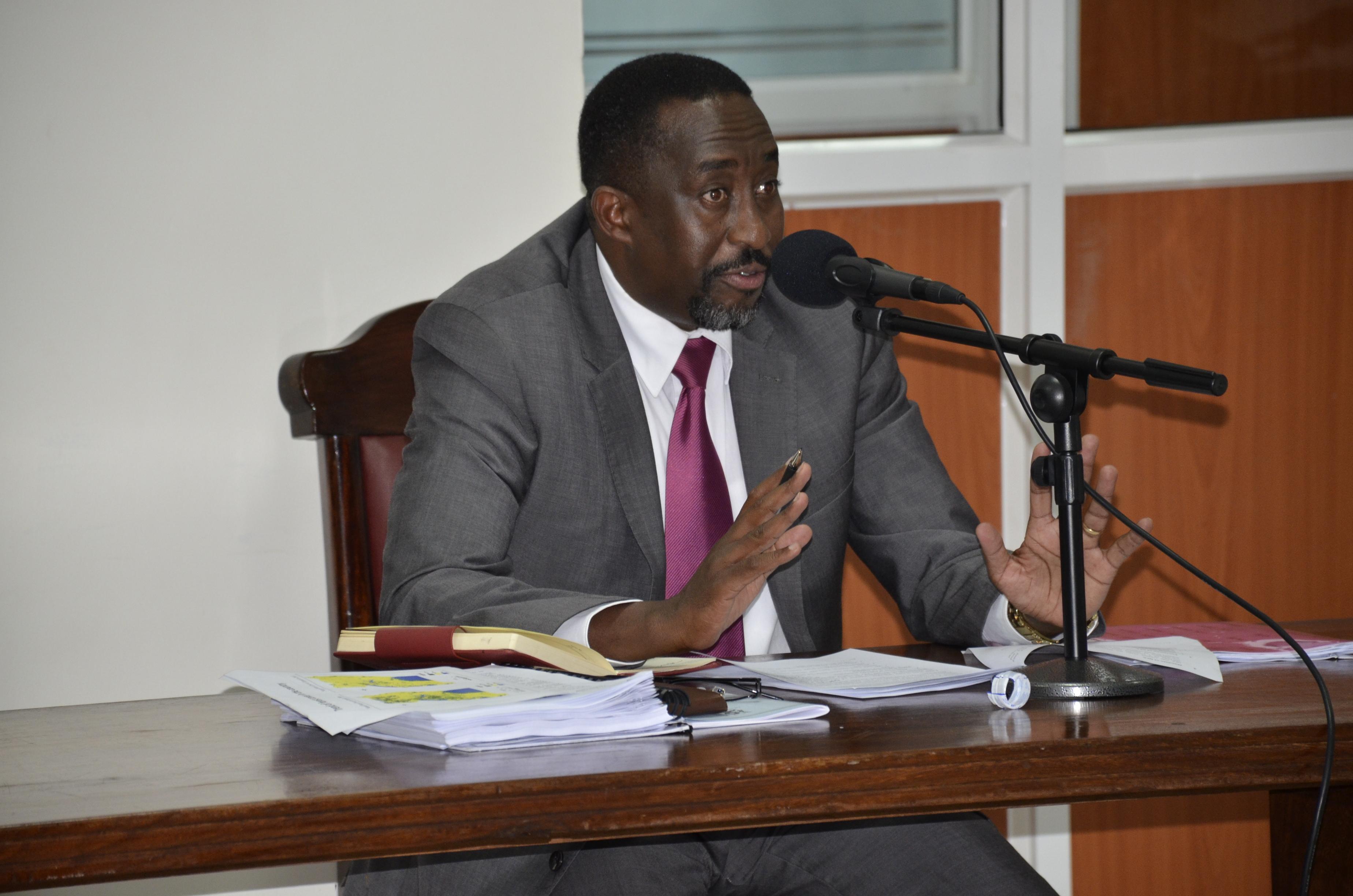 NFA Executive Director Michael Mugisa before the Land Probe