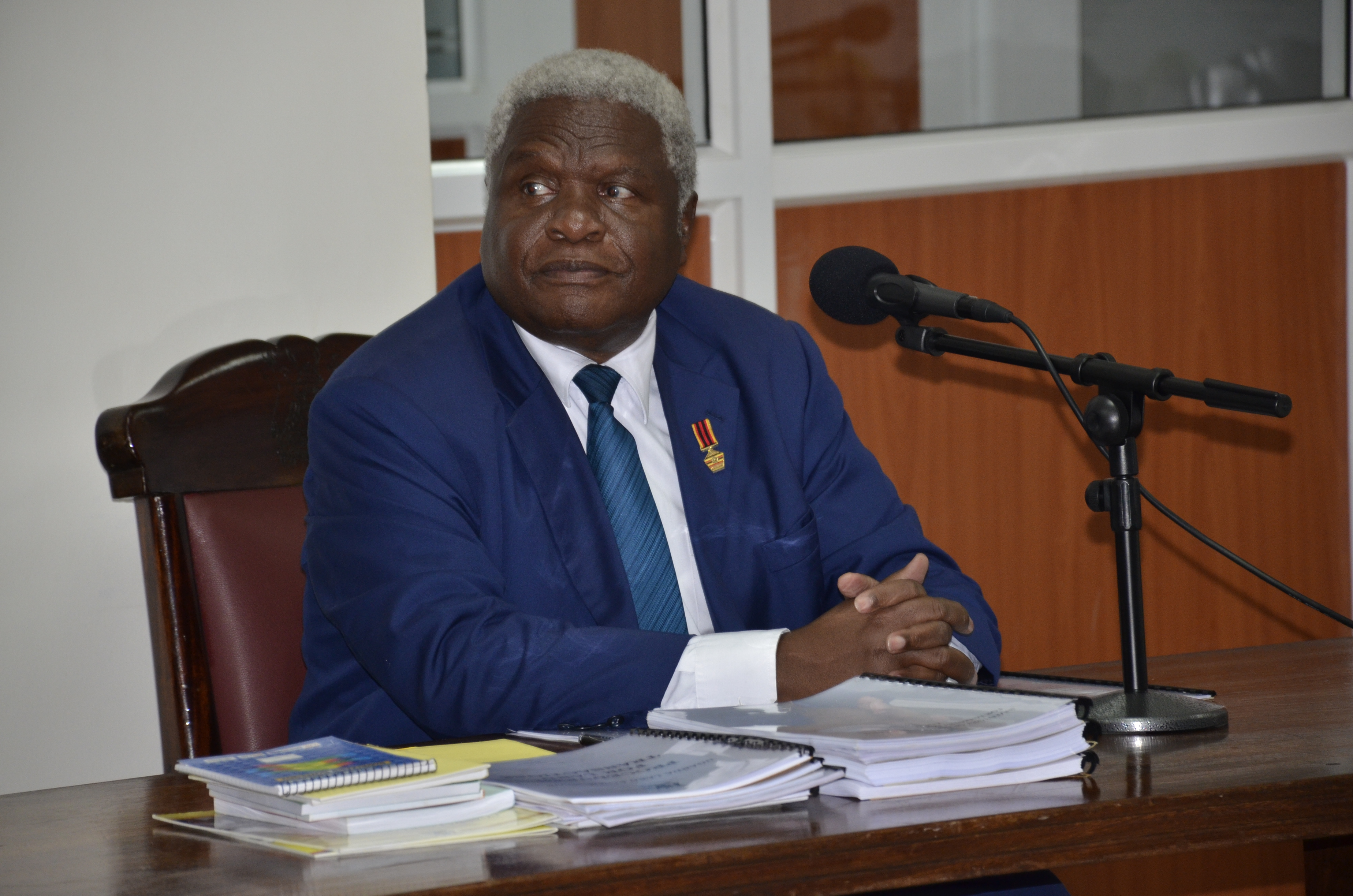 Former Uganda Land Commission Chairperson Honourable Baguma Isoke appearing before the Commission of Inquiry into land matters