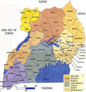 NPDP MAP OF UGANDA